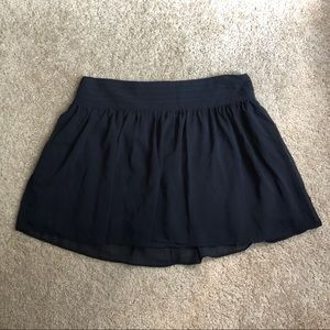 Black Flouncy Olsenboye Skater Mini Skirt Size 7